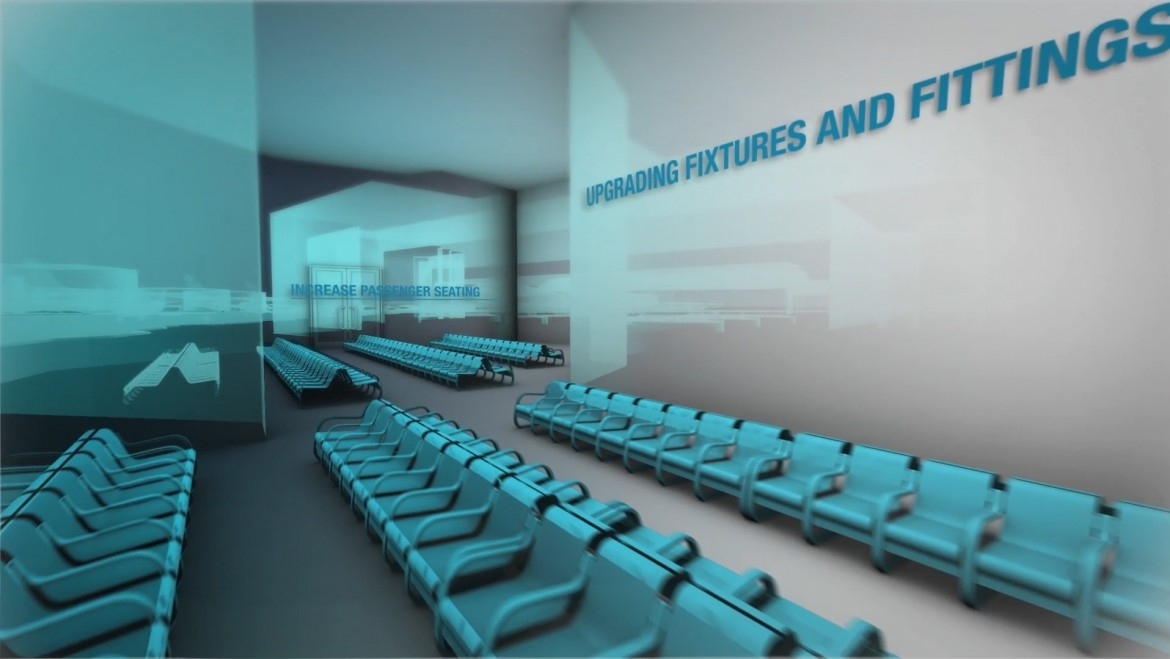 Creative Motion - Luton airport 3d animation fly-through video